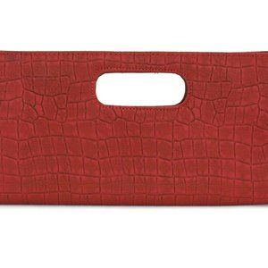 Giannini Rectangular Clutch Handbag Berry Red Bag